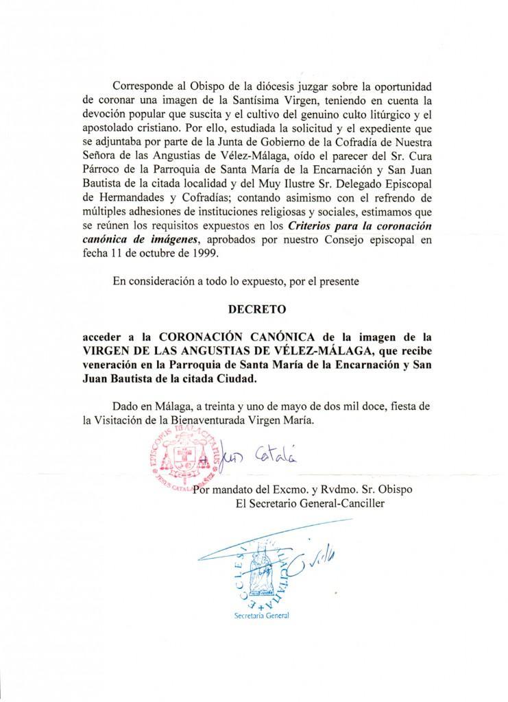 Decreto Coronación Canónica - Página 2