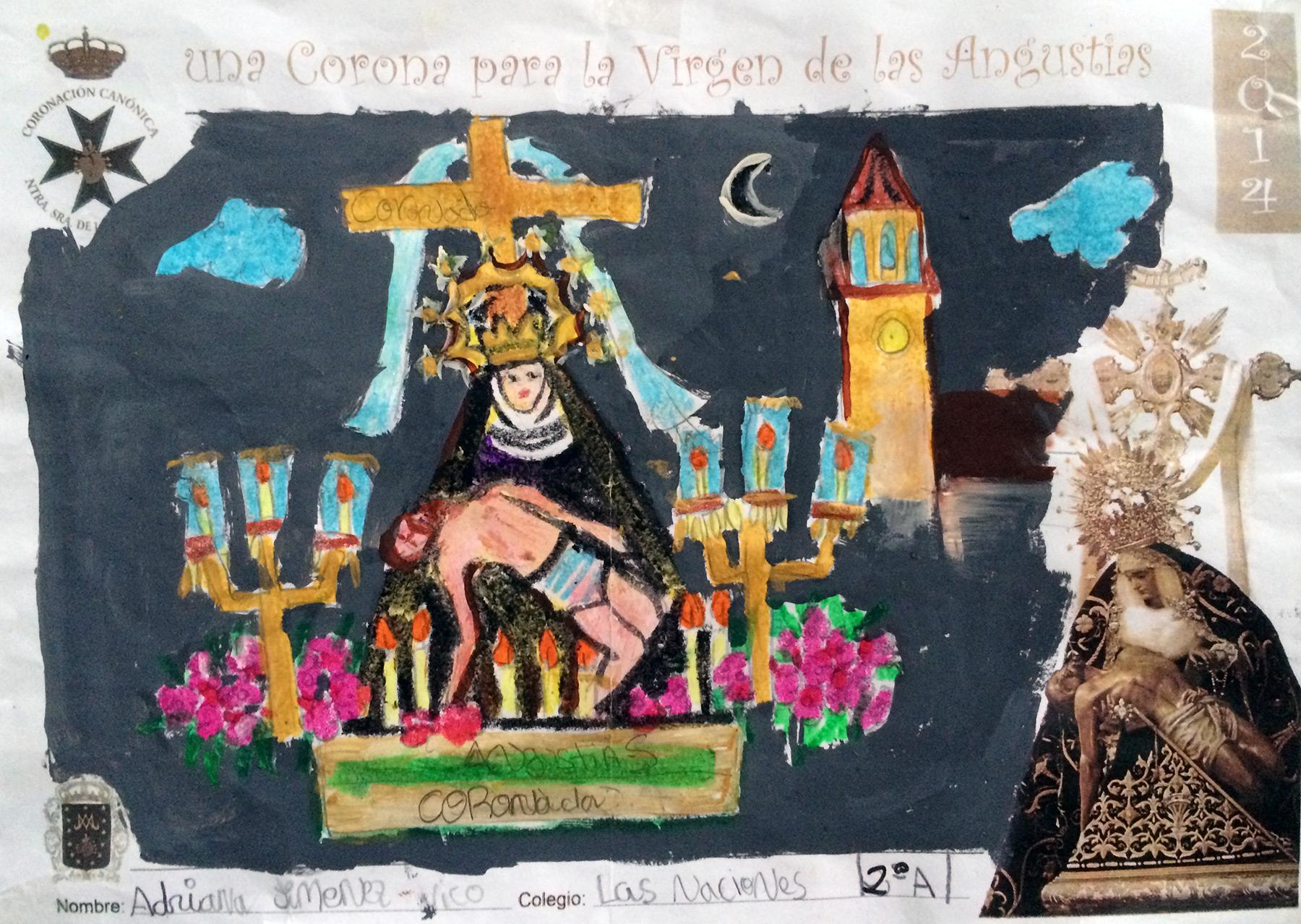 """""""Una Corona Para La Virgen De Las Angustias"""" - dibujos"""